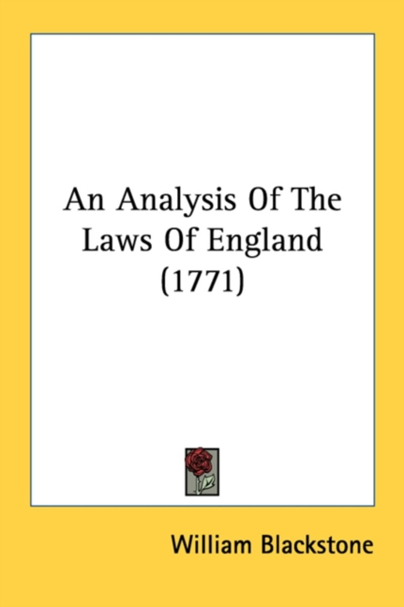An Analysis of the Laws of England (1771)