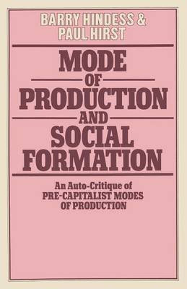 Mode of Production and Social Formation