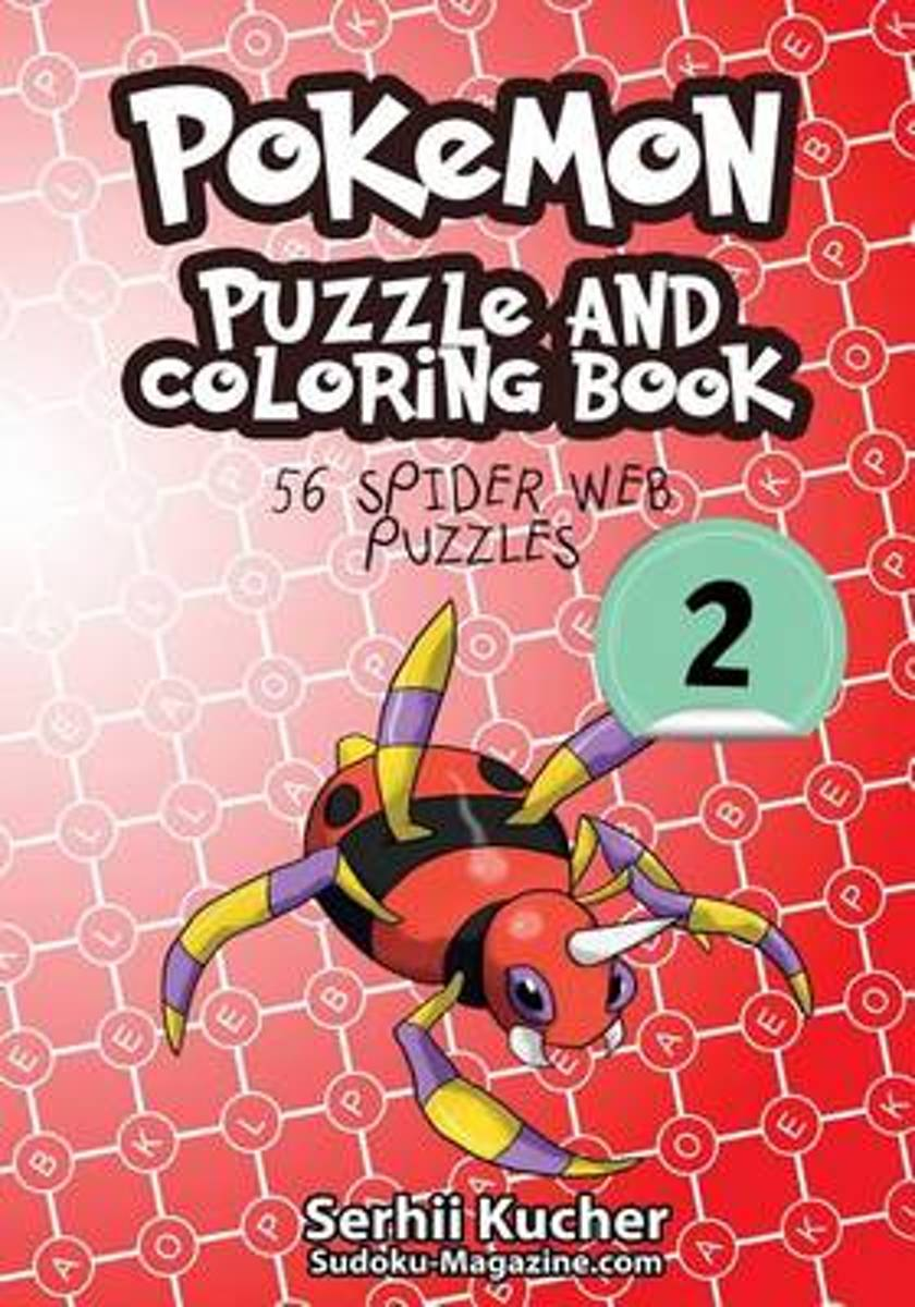 Pokemon Puzzle and Coloring Book - 56 Spider Web Puzzles