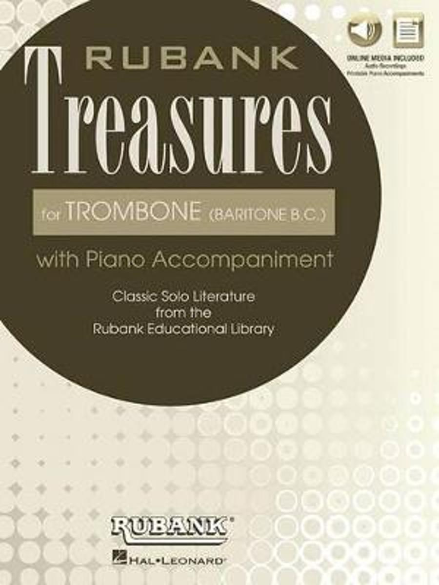 RUBANK TREASURES (VOXMAN) FOR TROMBONE BASS CLEF BOOK/MEDIA ONLINE
