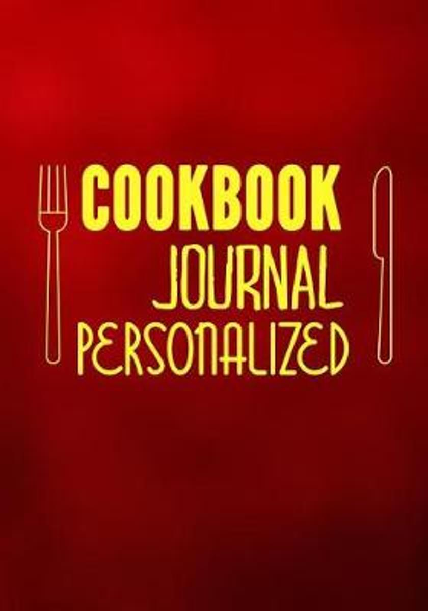 Cookbook Journal Personalized