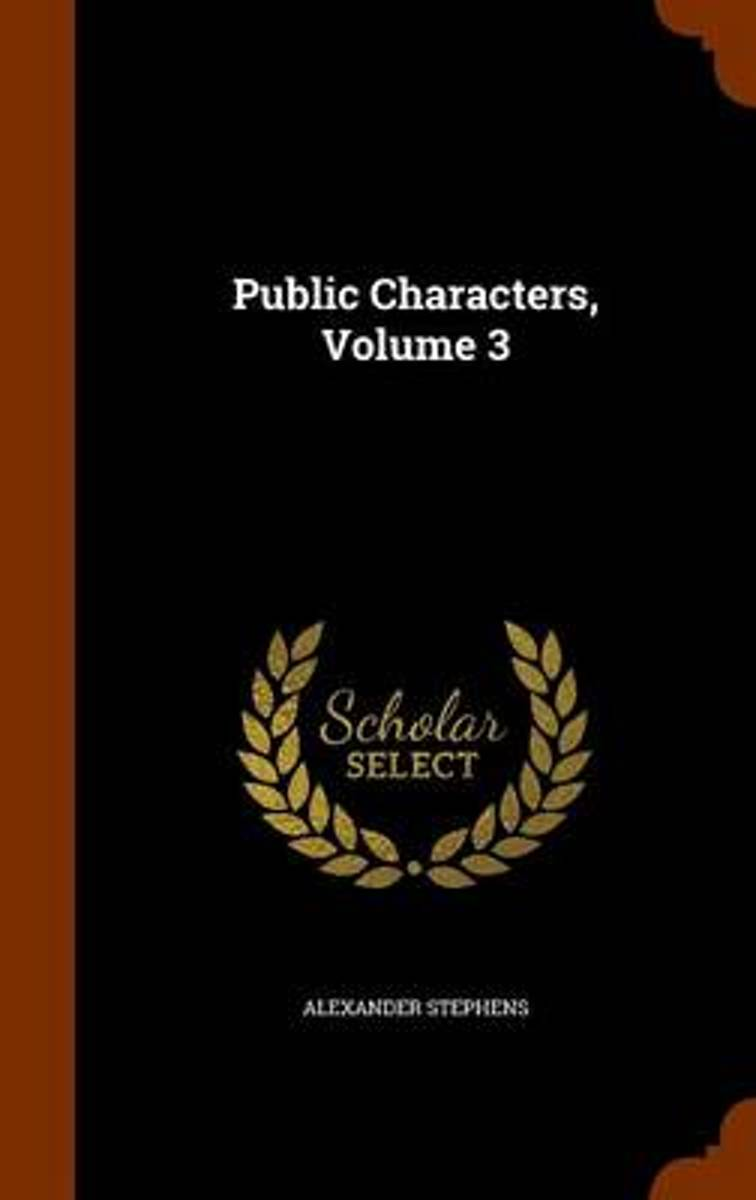 Public Characters, Volume 3
