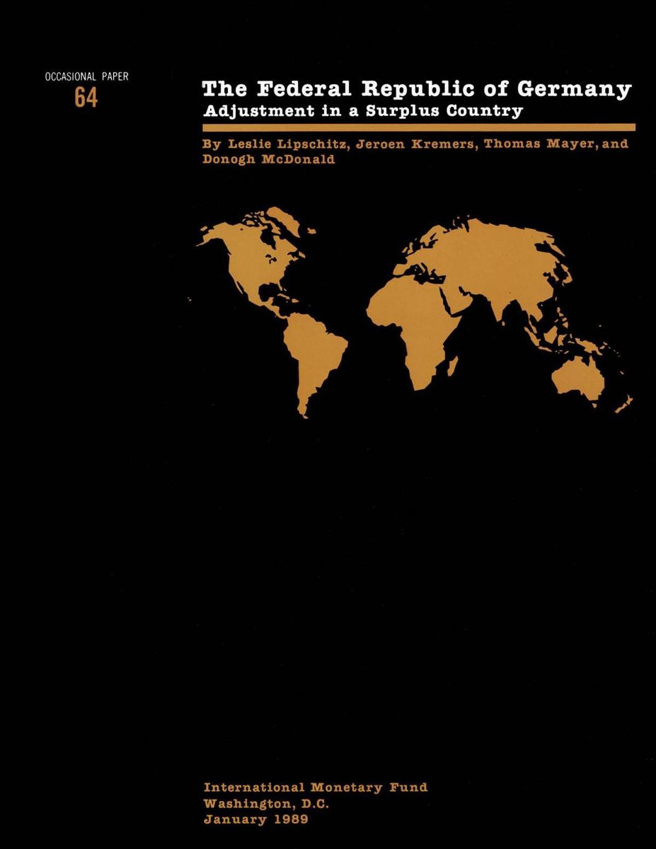 Federal Republic of Germany: Adjustment in a Surplus Country, Occ. Paper No. 64