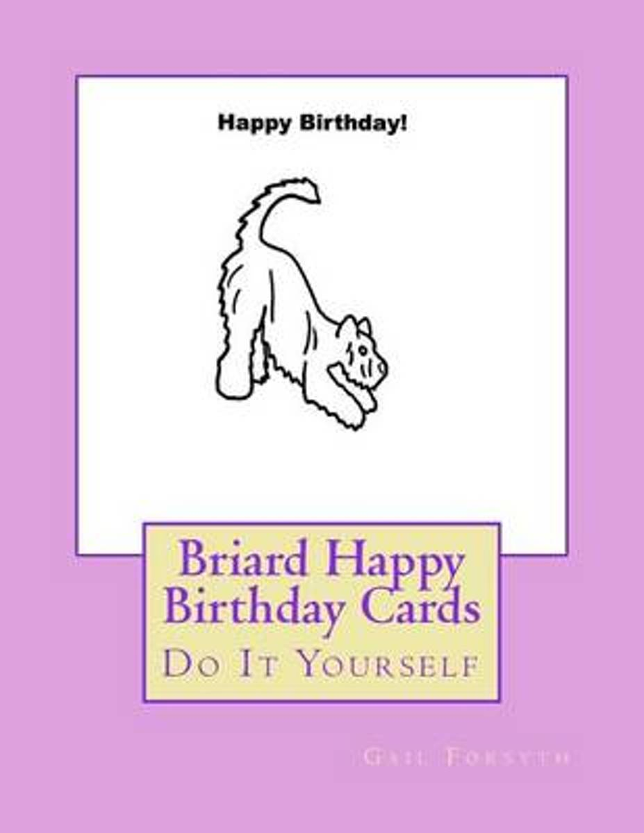 Briard Happy Birthday Cards