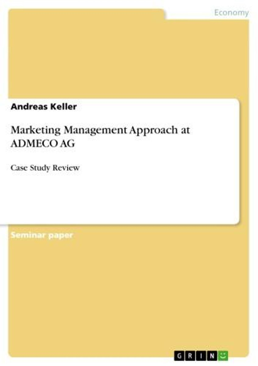 Marketing Management Approach at ADMECO AG