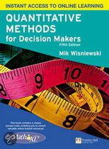 Quantitative Methods For Decision Makers With Mymathlab Global