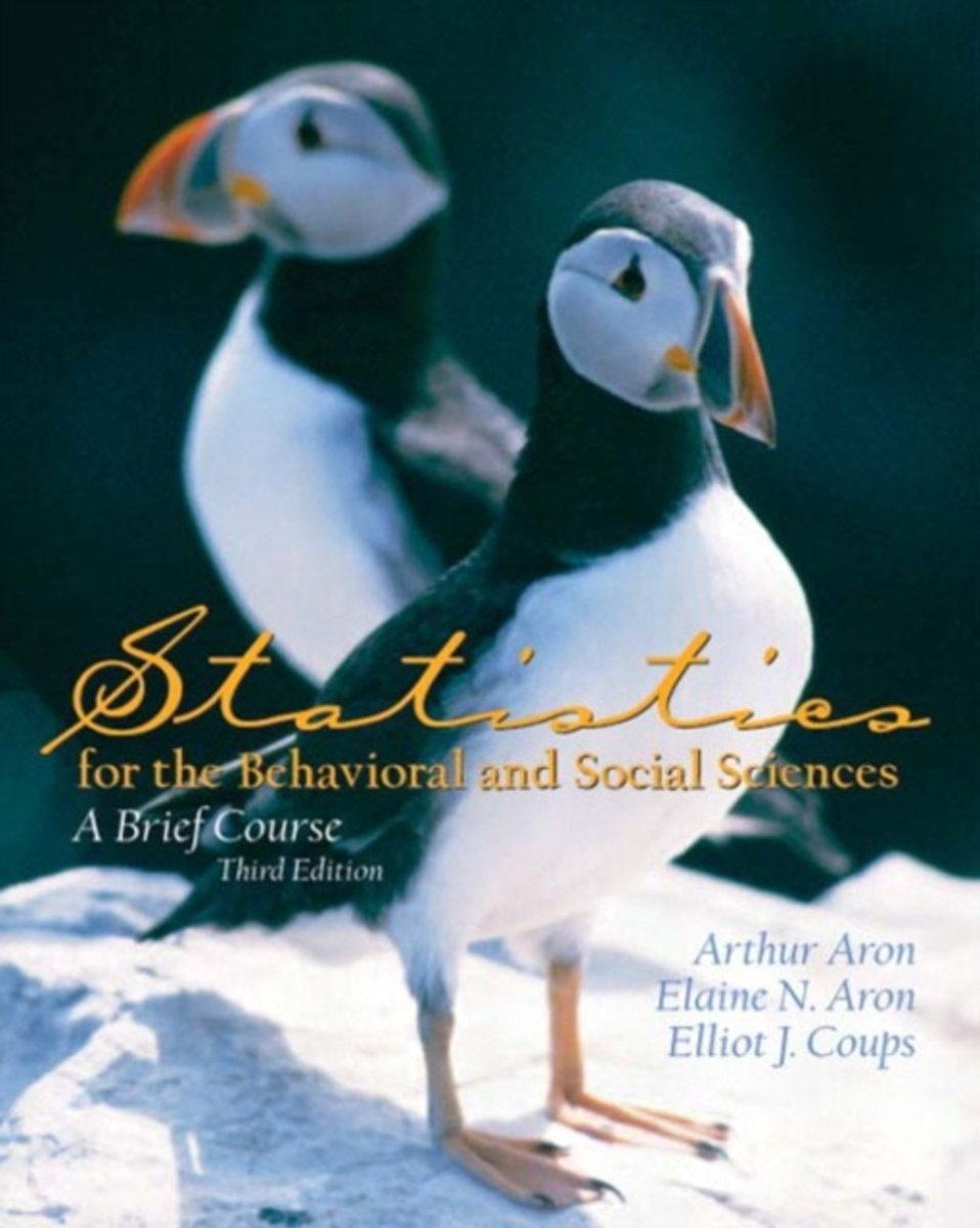 Statistics for the Behavioral and Social Sciences