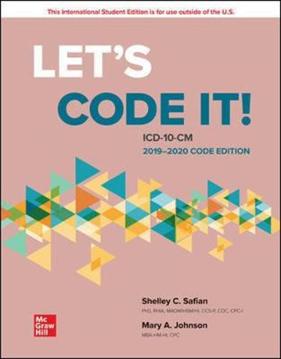 ISE Let's Code It! ICD-10-CM 2019-2020 Code Edition