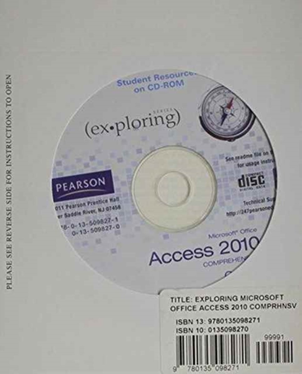 Student CD for Exploring Microsoft Office Access 2010 Comprehensive