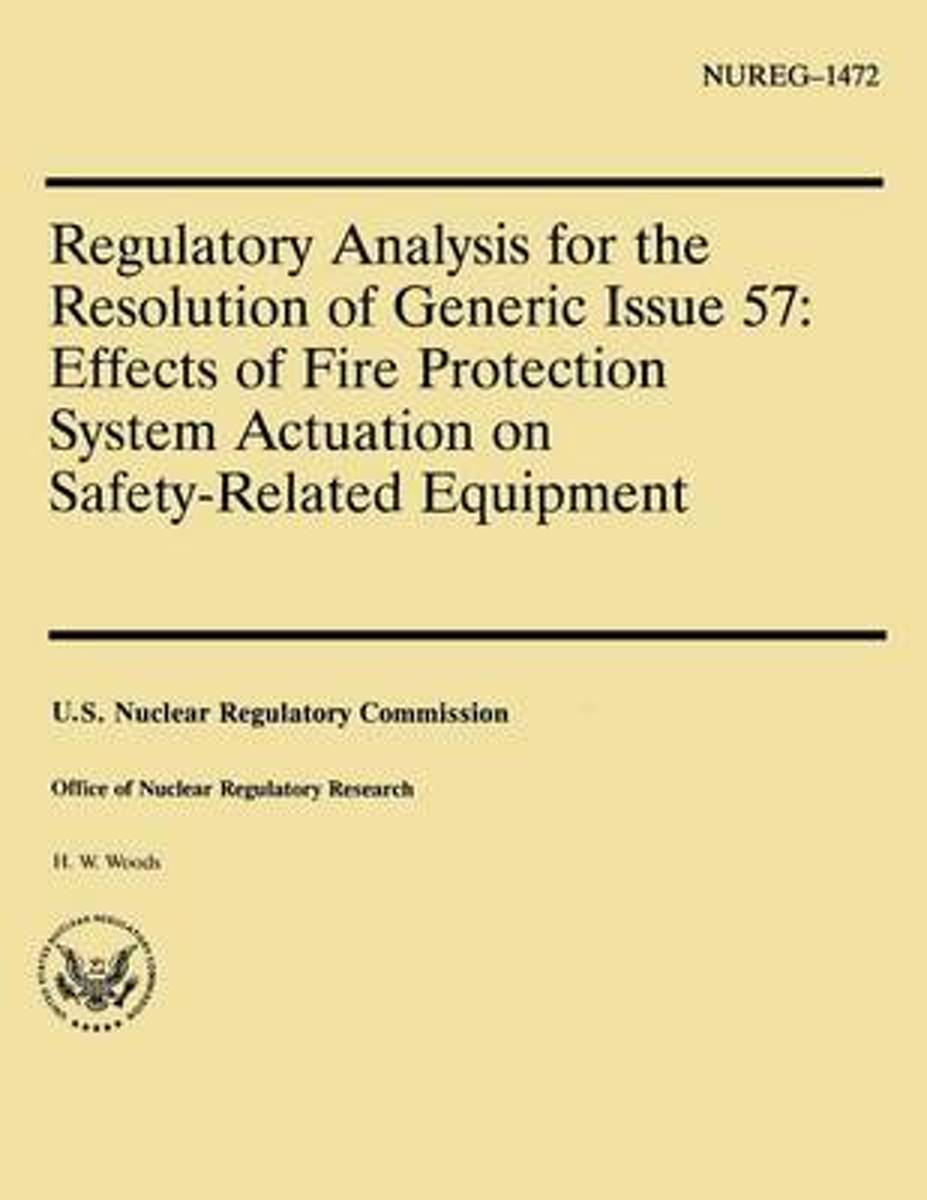 Regulatory Analysis for the Resolution of Generic Issue 57