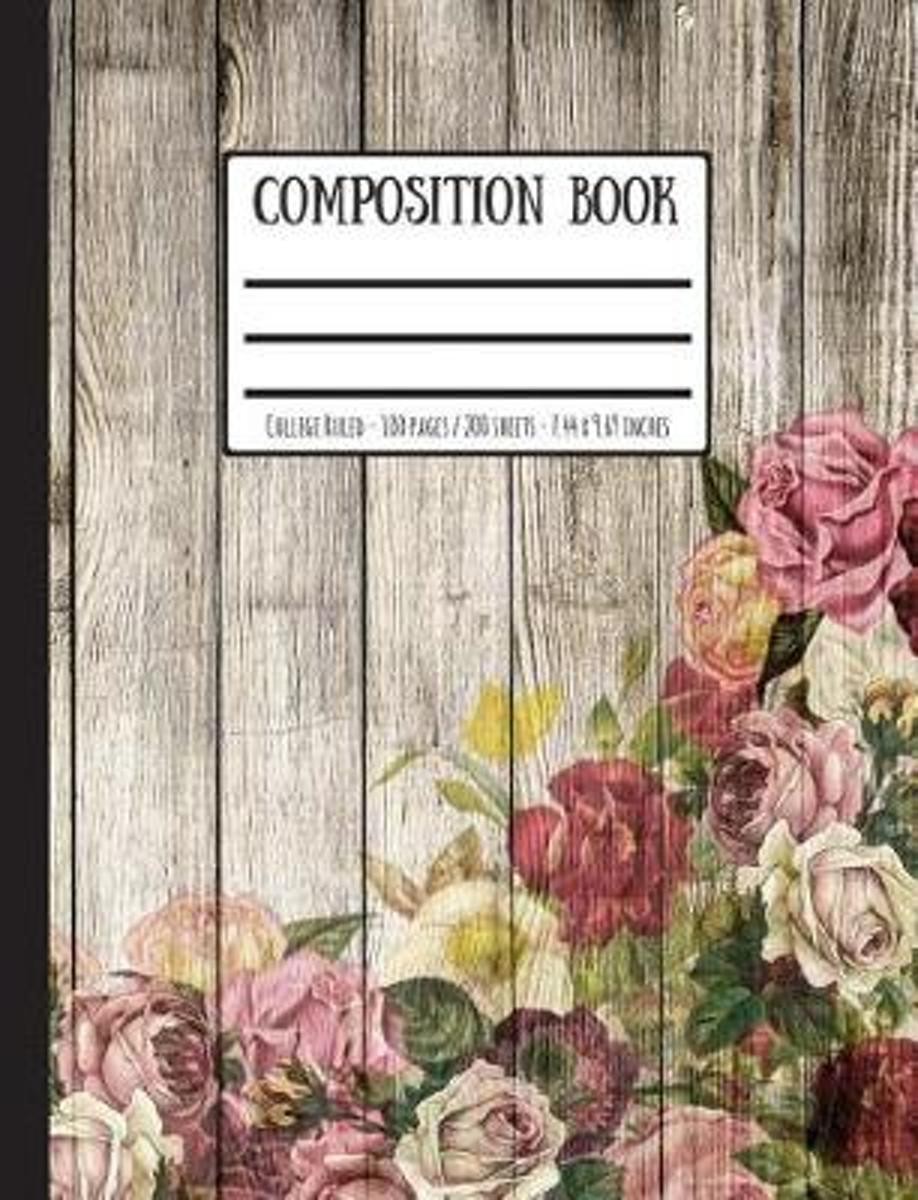 Wooden Fence & Roses Composition Book