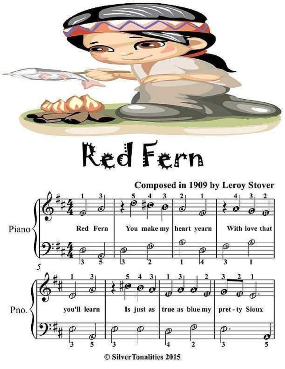 Red Fern - Easiest Piano Sheet Music Junior Edition