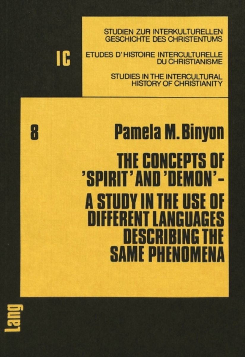 Concepts of Spirit and Demon