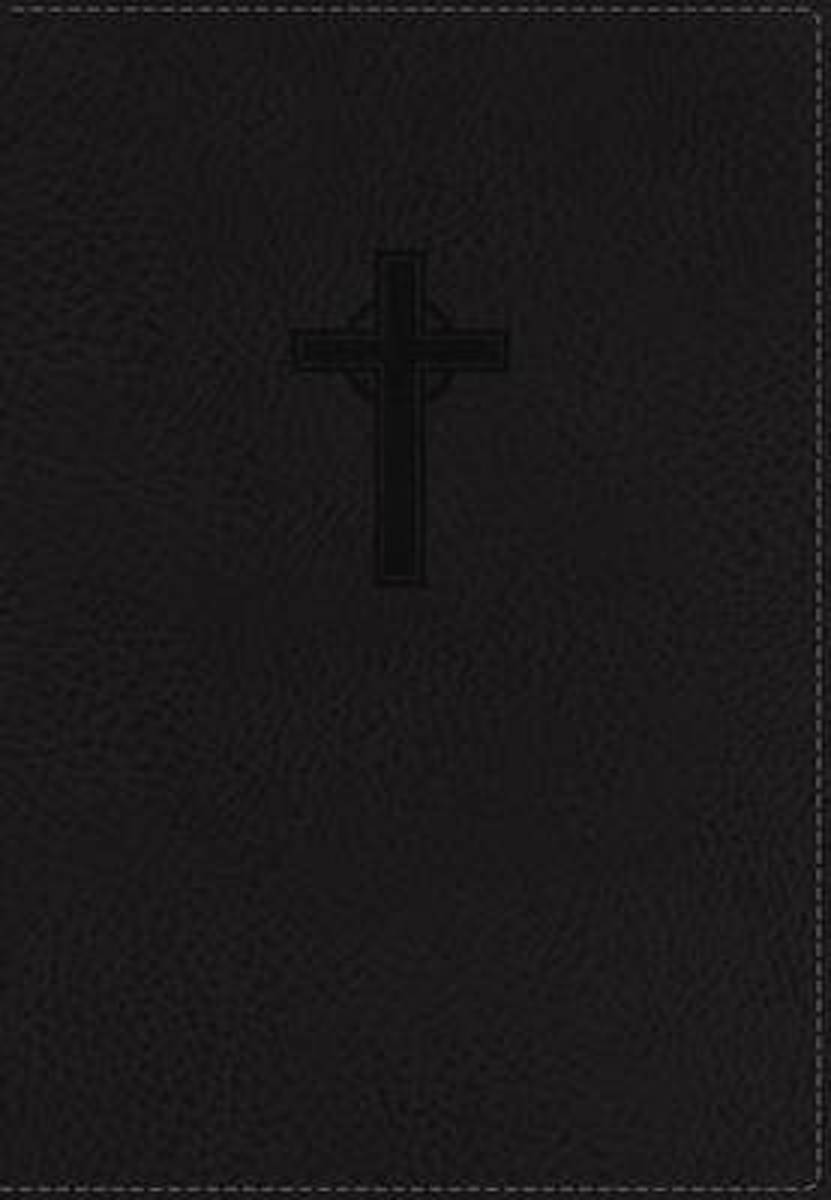 NKJV, Reference Bible, Compact, Large Print, Imitation Leather, Black, Red Letter Edition