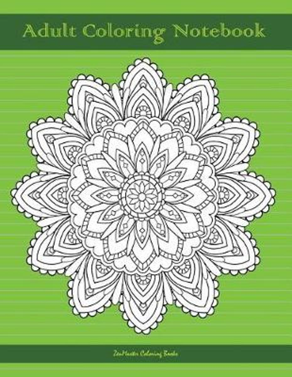 Adult Coloring Notebook (green edition)