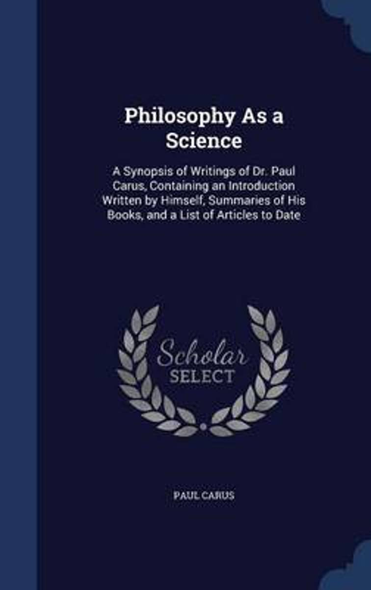 Philosophy as a Science