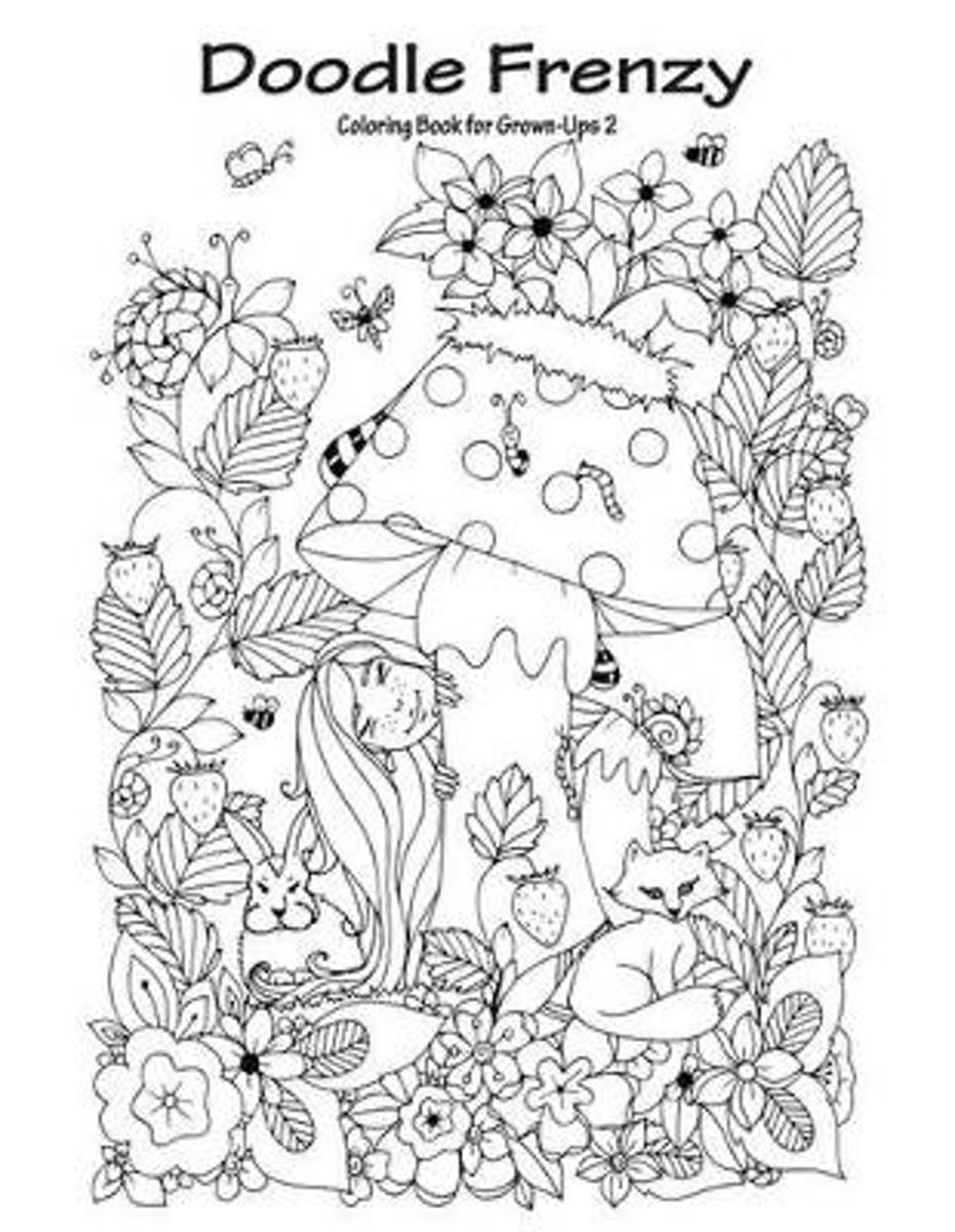 Doodle Frenzy Coloring Book for Grown-Ups 2