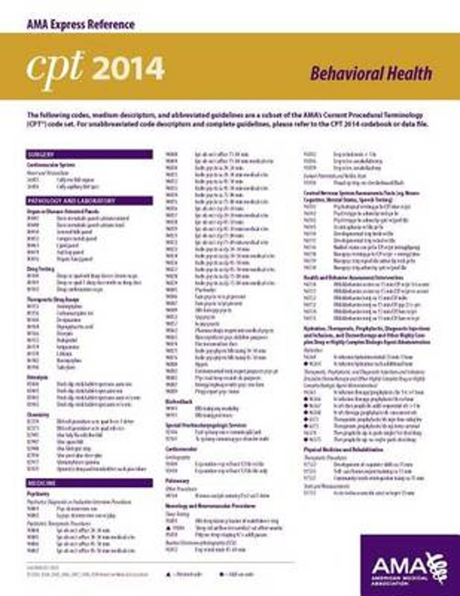 CPT & HCPCS 2014 Modifier Express Reference Coding Card