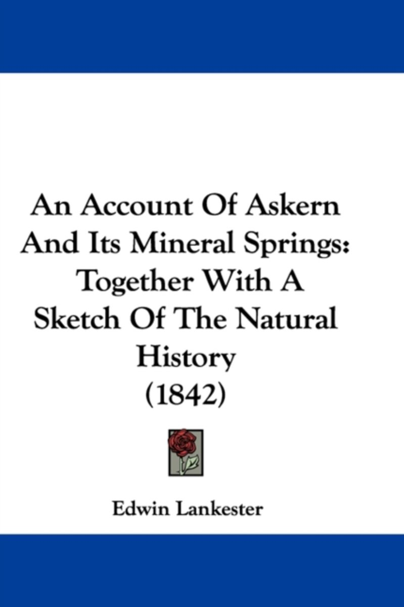 An Account Of Askern And Its Mineral Springs