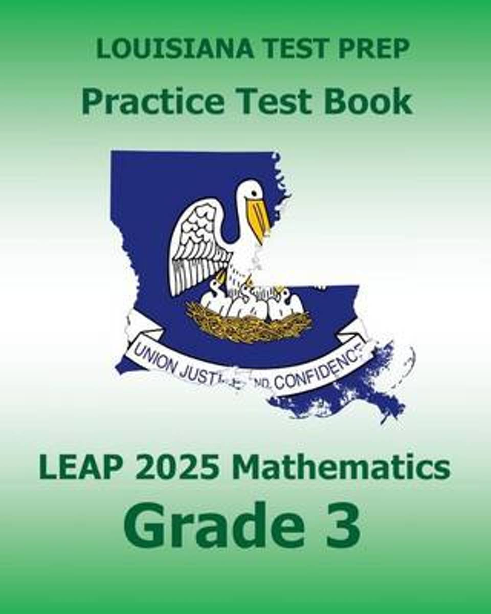 Louisiana Test Prep Practice Test Book Leap 2025 Mathematics Grade 3