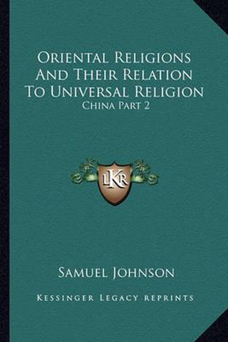 Oriental Religions and Their Relation to Universal Religion
