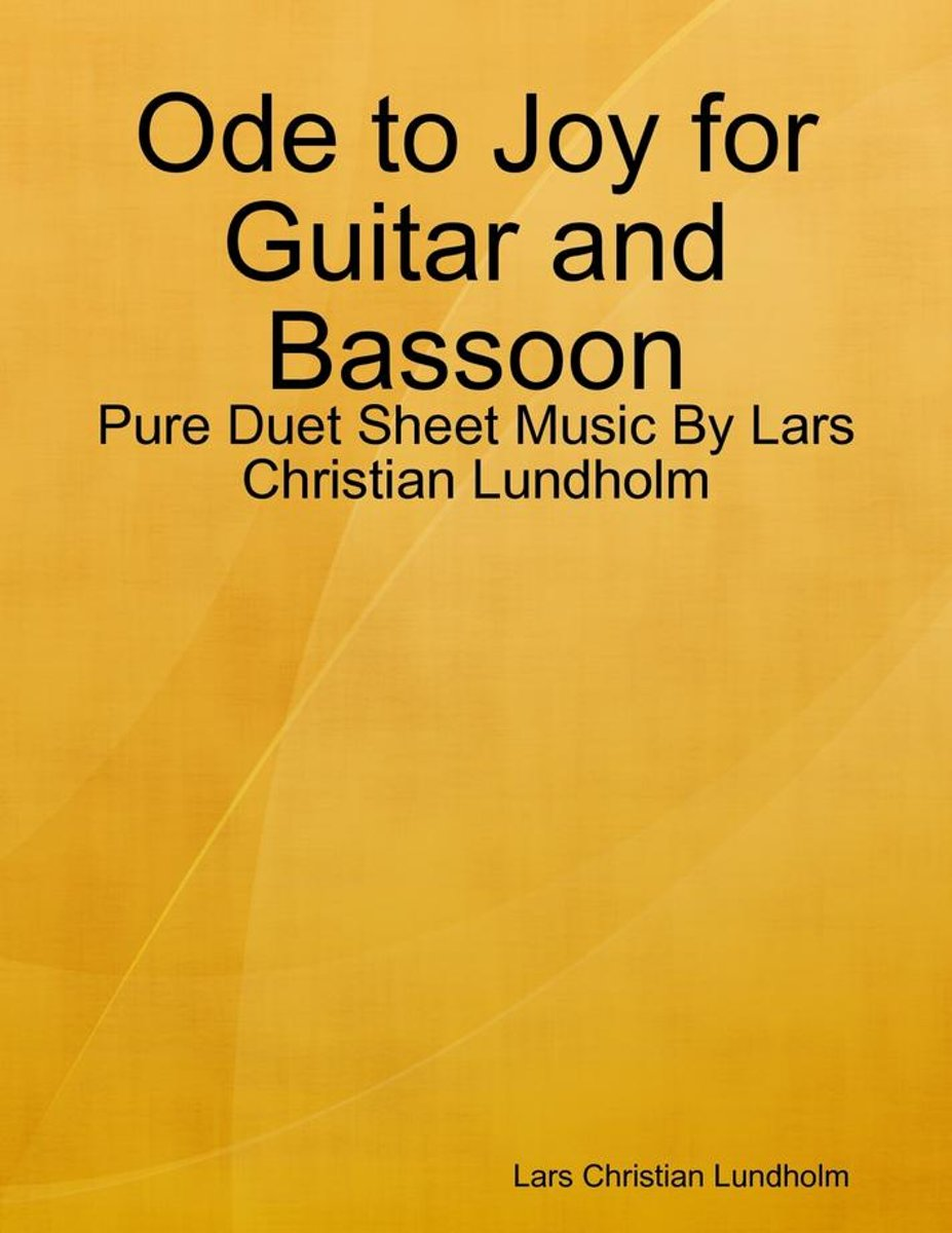 Ode to Joy for Guitar and Bassoon - Pure Duet Sheet Music By Lars Christian Lundholm