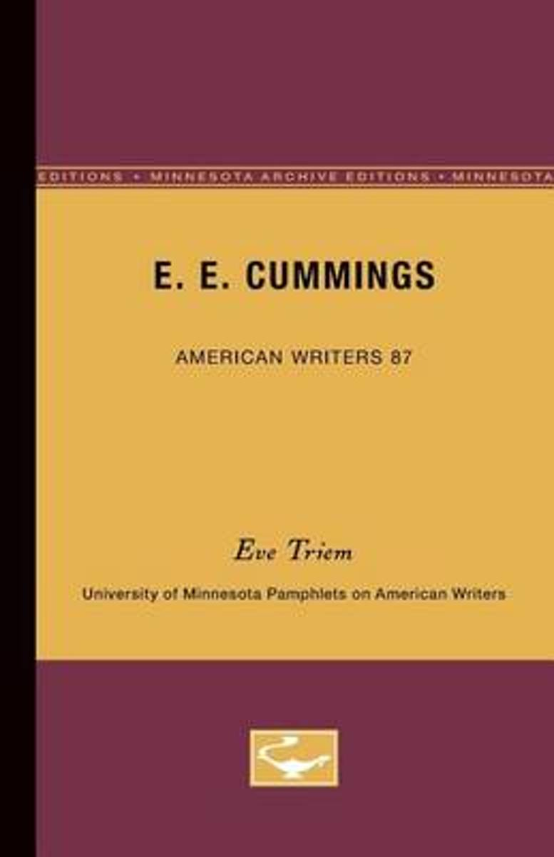 E.E. Cummings - American Writers 87
