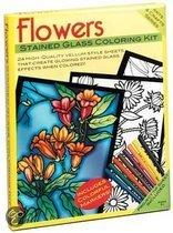 Flowers Stained Glass Coloring Kit