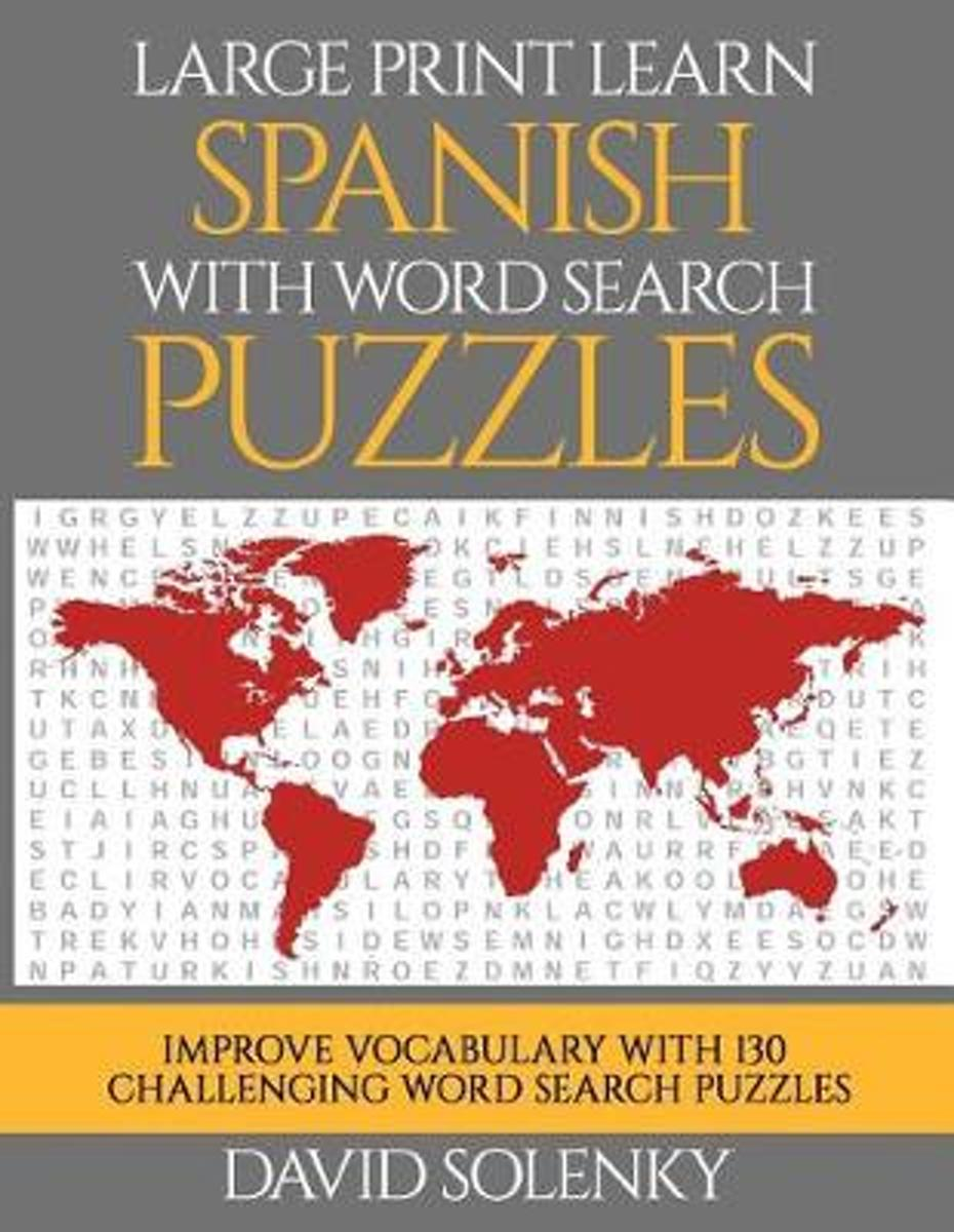 Large Print Learn Spanish with Word Search Puzzles