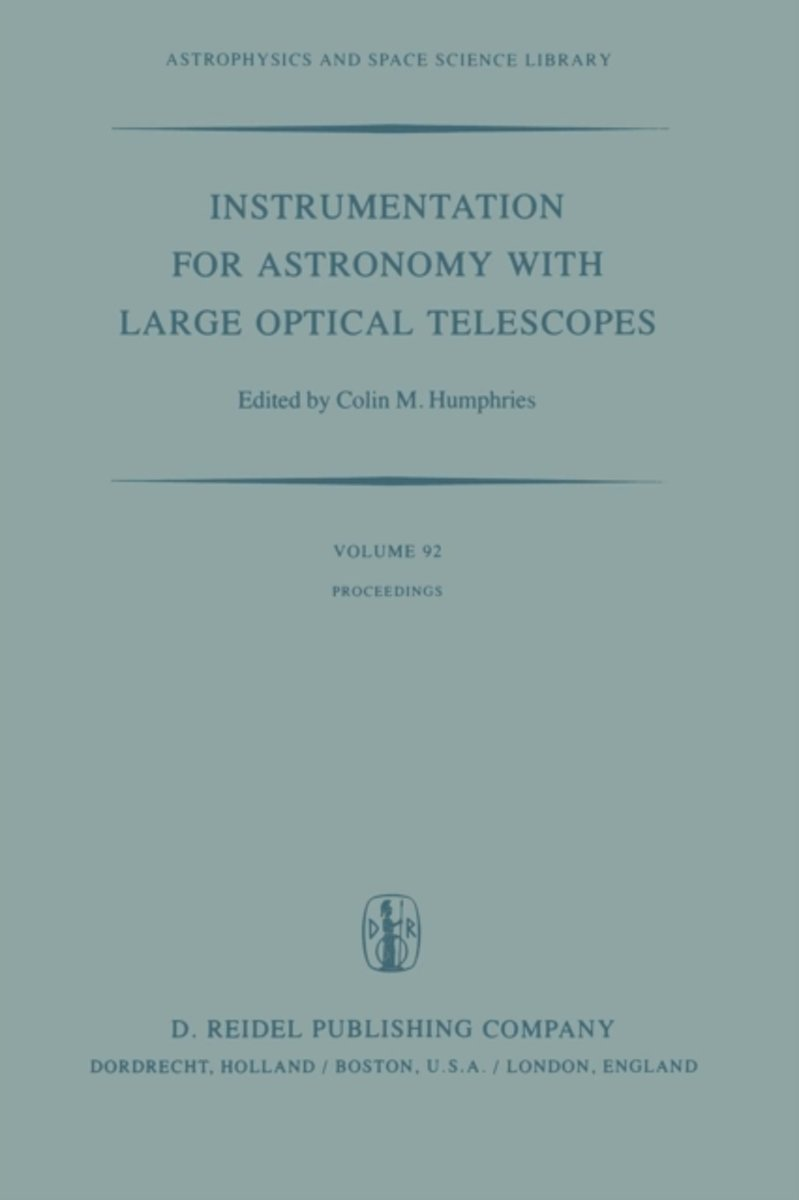 Instrumentation for Astronomy with Large Optical Telescopes