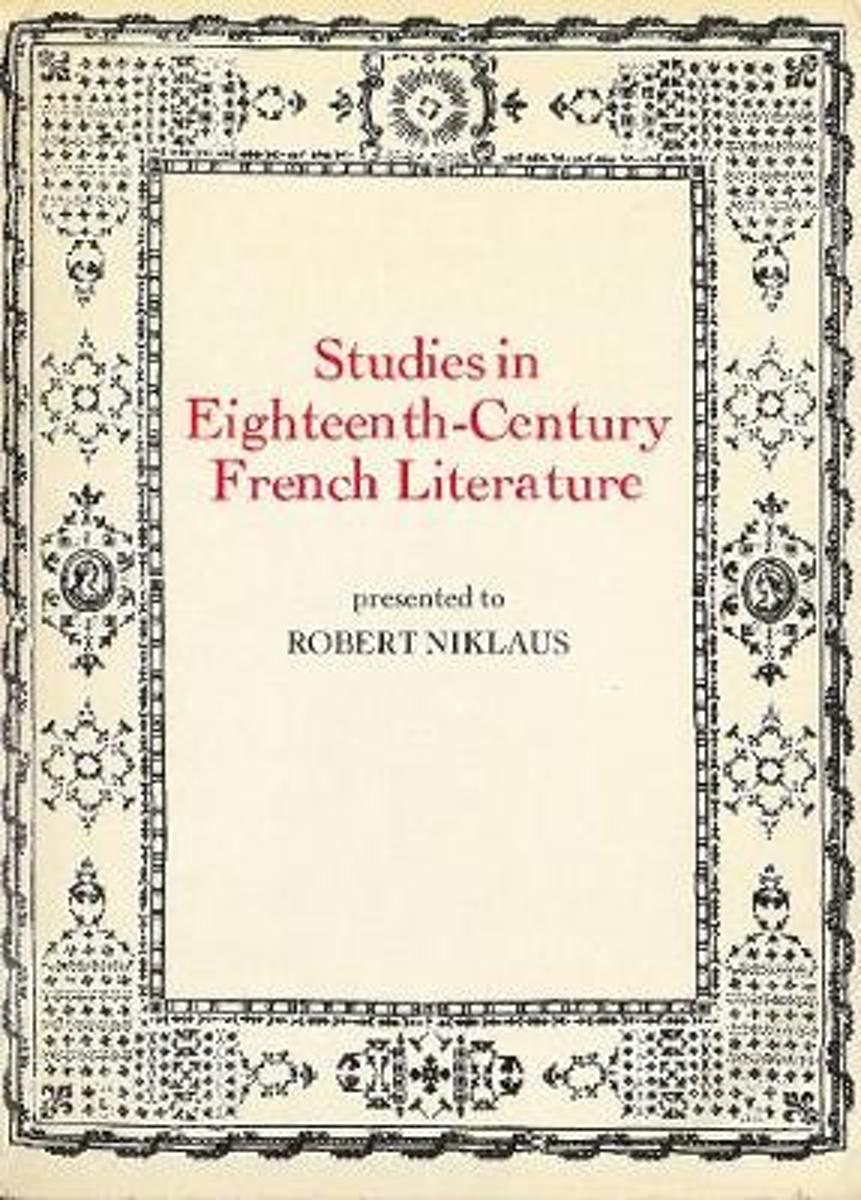 Studies in Eighteenth Century French Literature