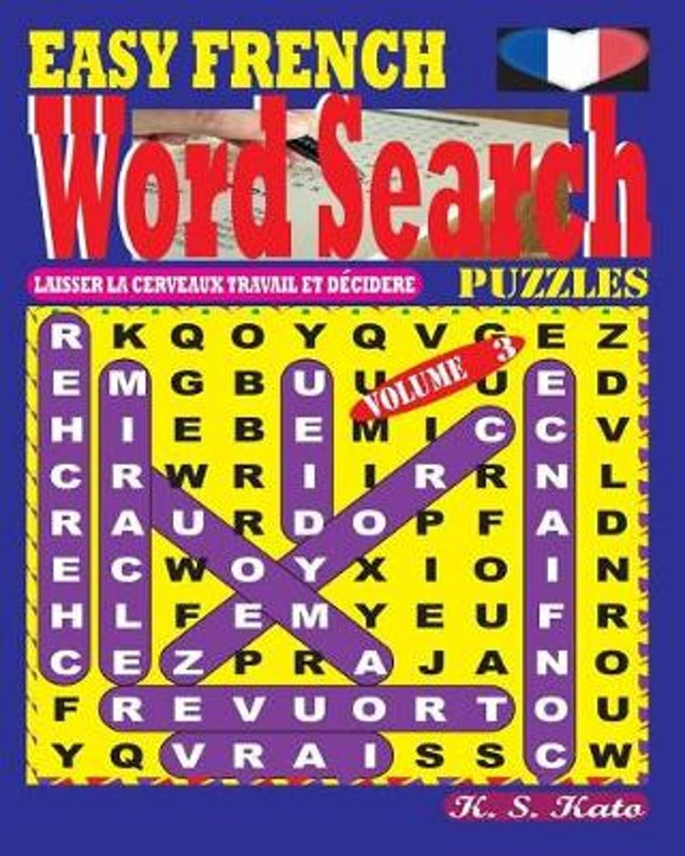 Easy French Word Search Puzzles. Vol. 3