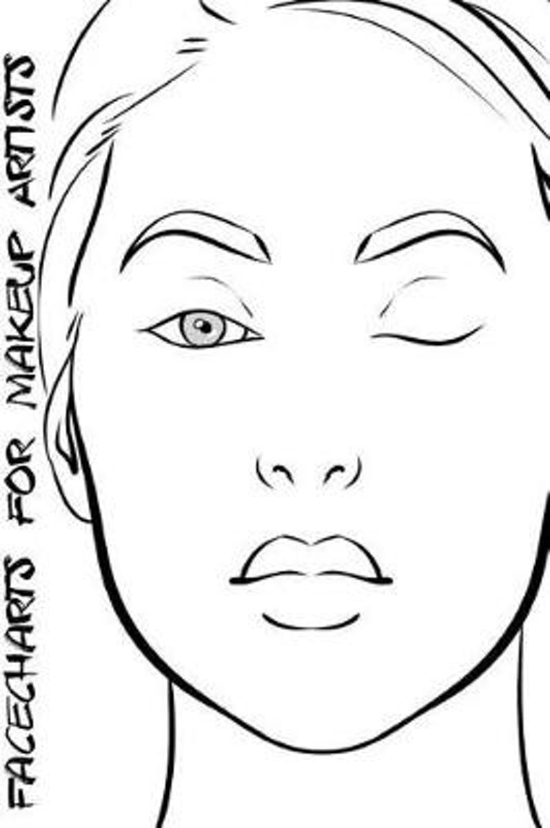 Facecharts for Makeup Artists