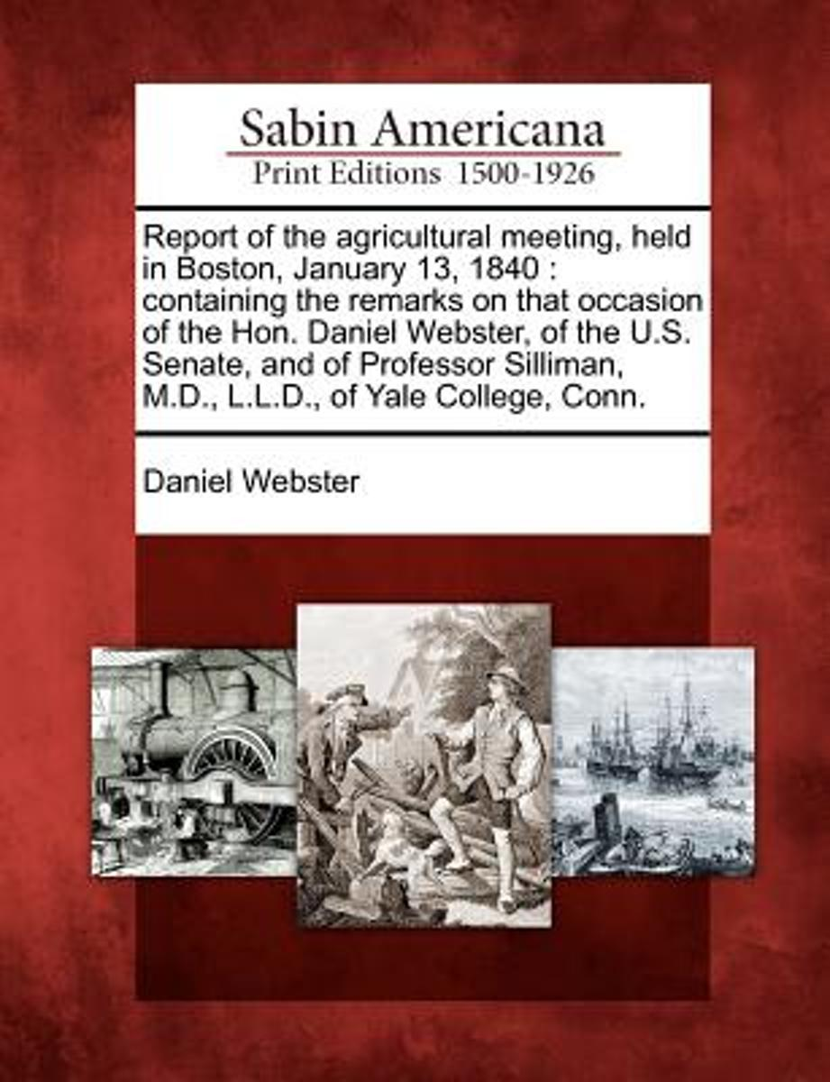Report of the Agricultural Meeting, Held in Boston, January 13, 1840