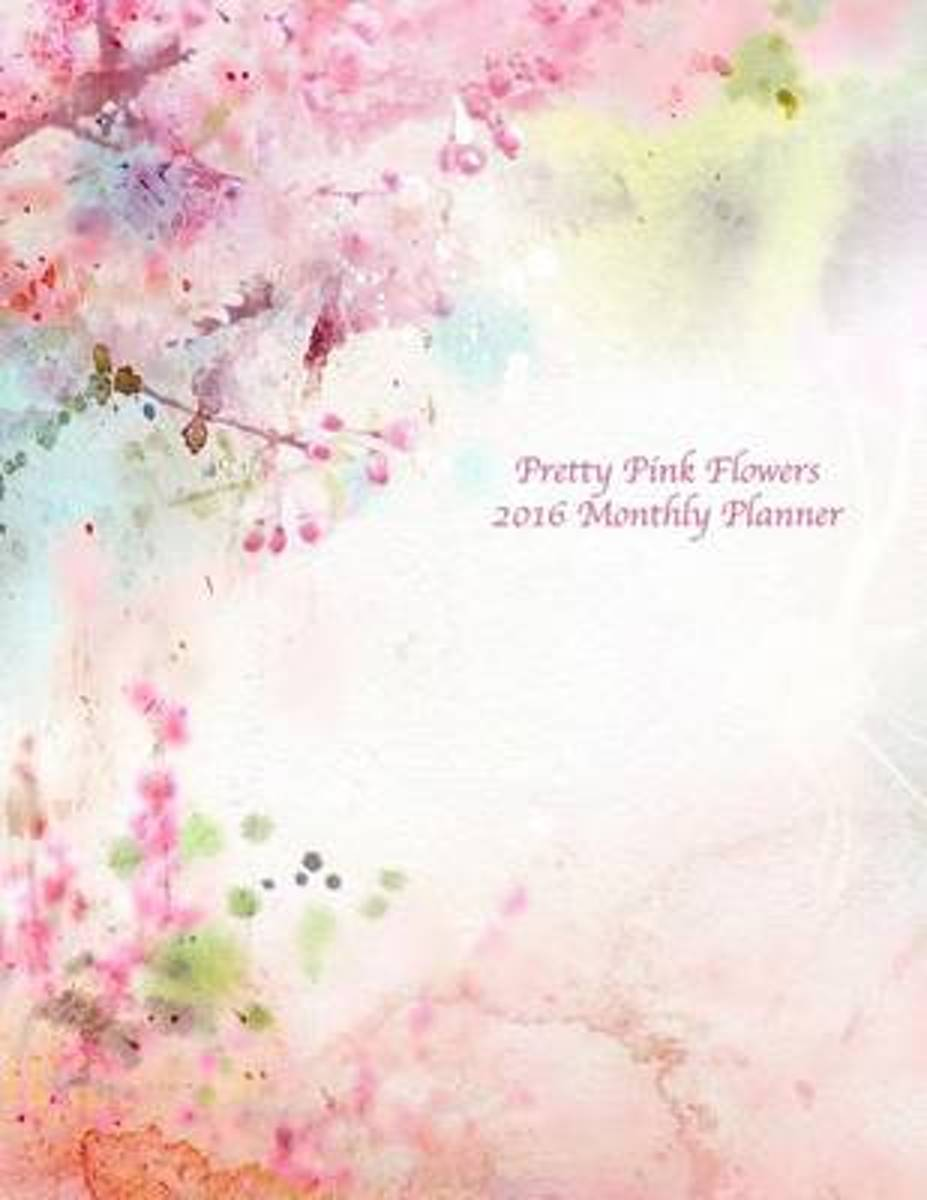 Pretty Pink Flowers 2016 Monthly Planner