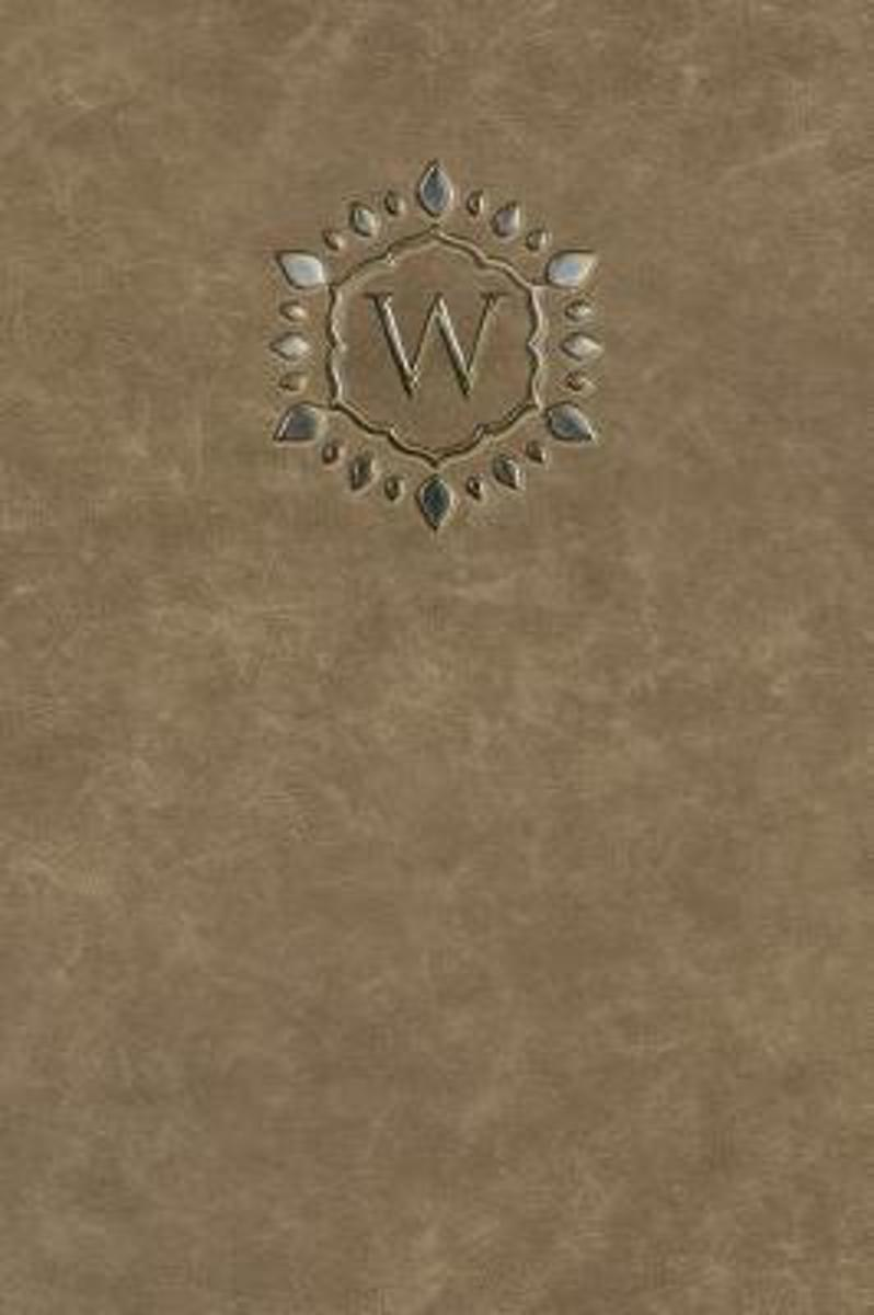 Monogram W Any Day Planner Notebook