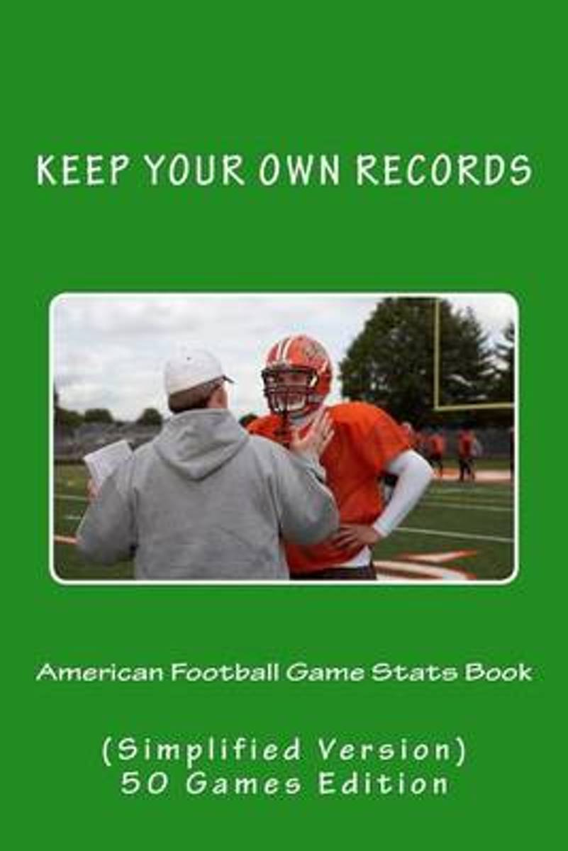 American Football Game STATS Book