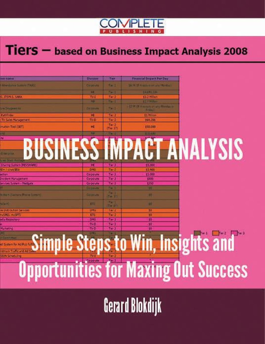 Business Impact Analysis - Simple Steps to Win, Insights and Opportunities for Maxing Out Success