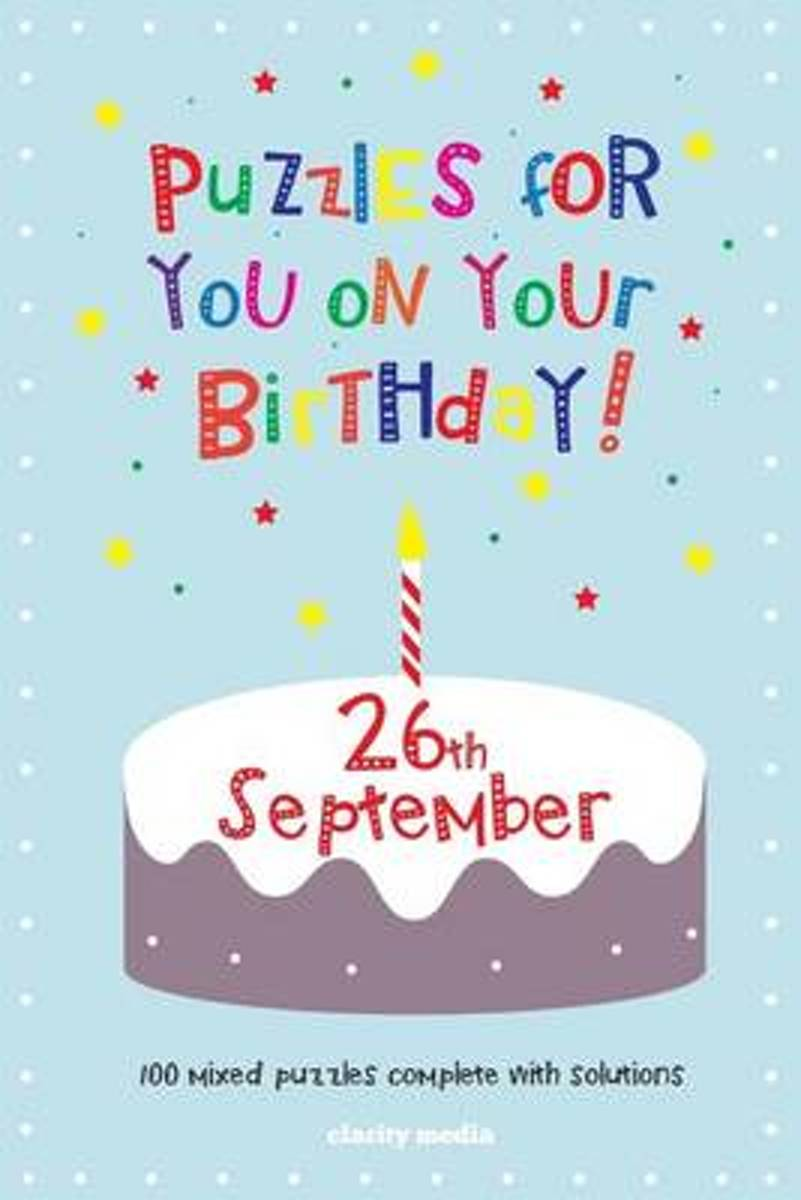 Puzzles for You on Your Birthday - 26th September