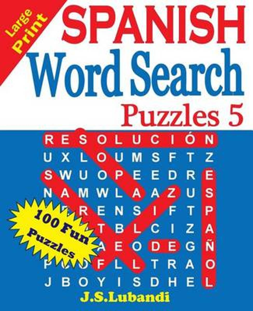 Large Print Spanish Word Search Puzzles 5