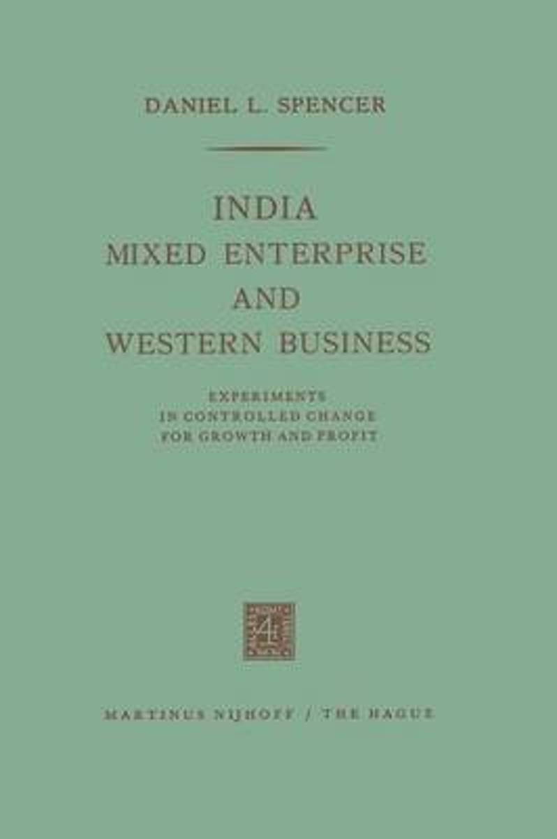India, Mixed Enterprise and Western Business