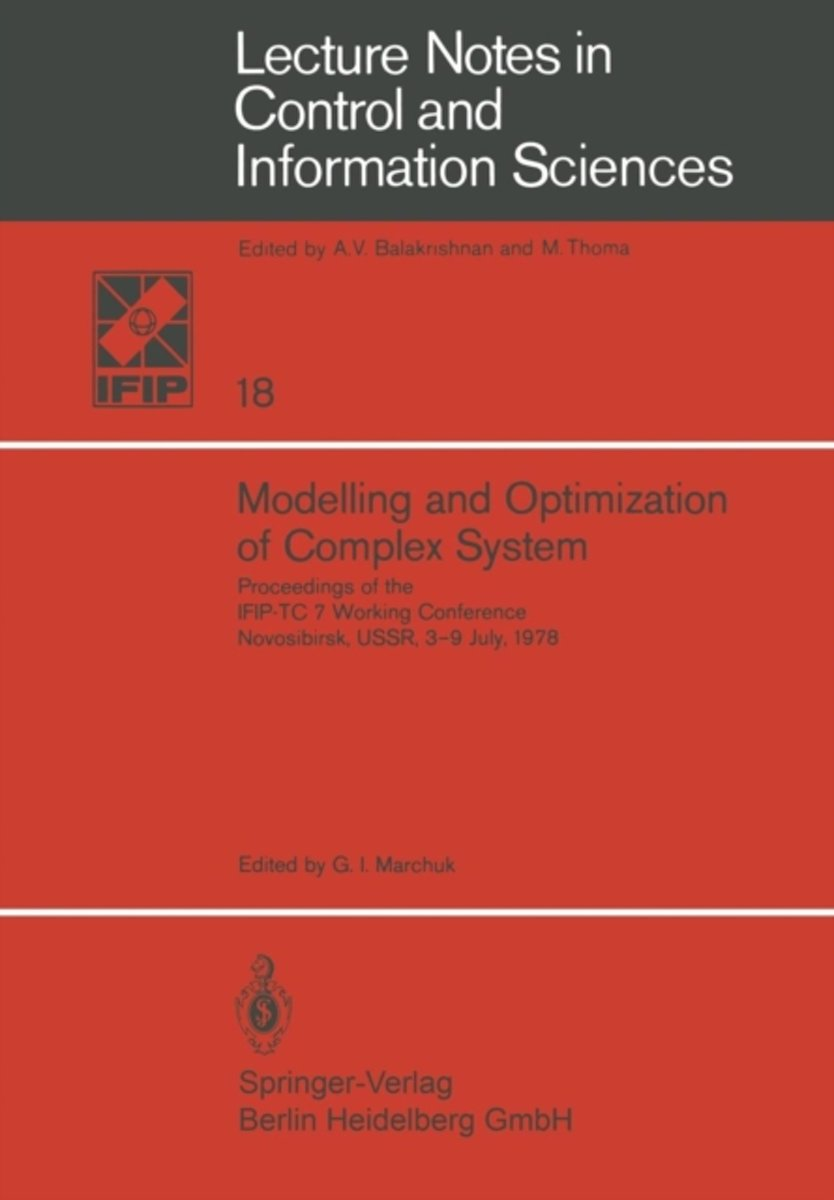 Modelling and Optimization of Complex System
