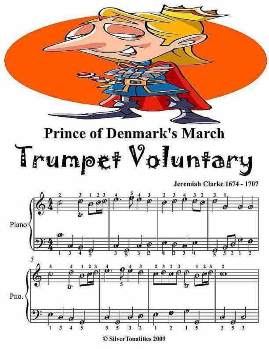 Prince of Denmark's March Trumpet Voluntary - Easy Piano Sheet Music Junior Edition