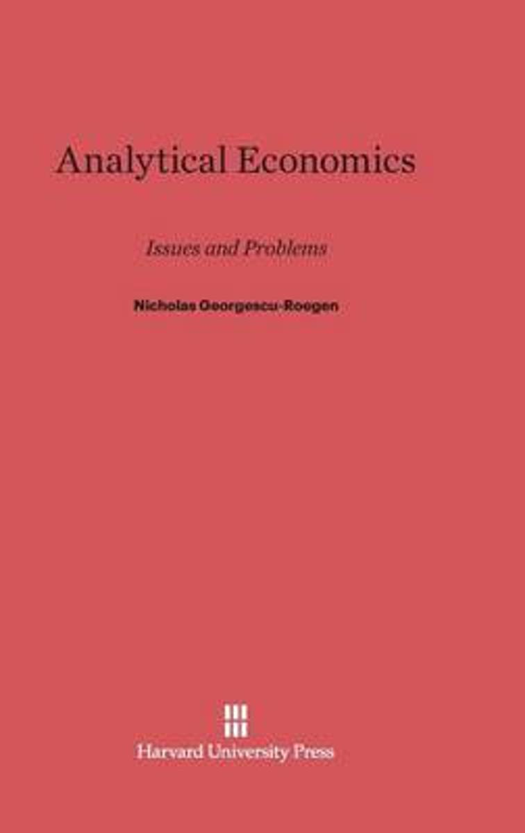 Analytical Economics
