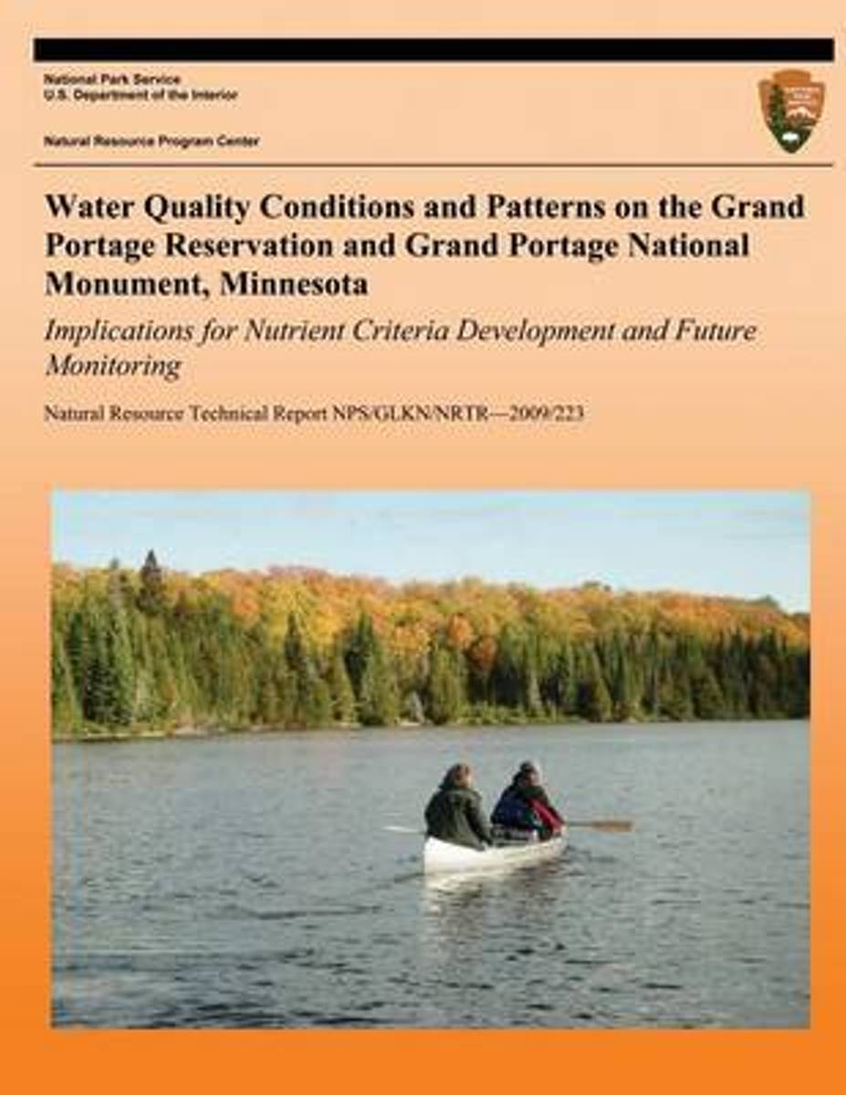 Water Quality Conditions and Patterns on the Grand Portage Reservation and Grand Portage National Monument, Minnesota