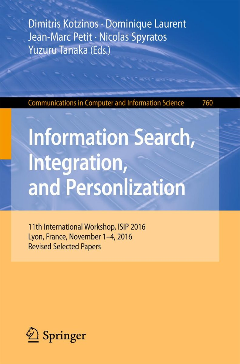 Information Search, Integration, and Personlization