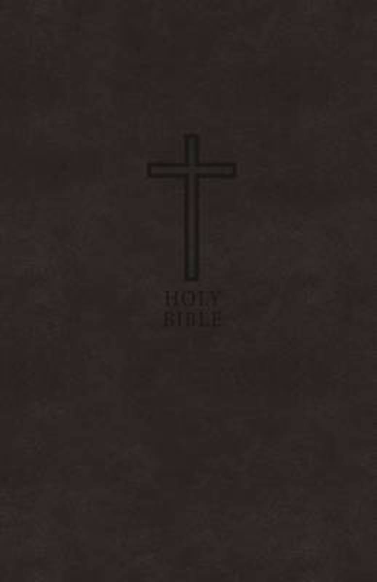 KJV, Value Thinline Bible, Compact, Leathersoft, Black, Red Letter Edition, Comfort Print