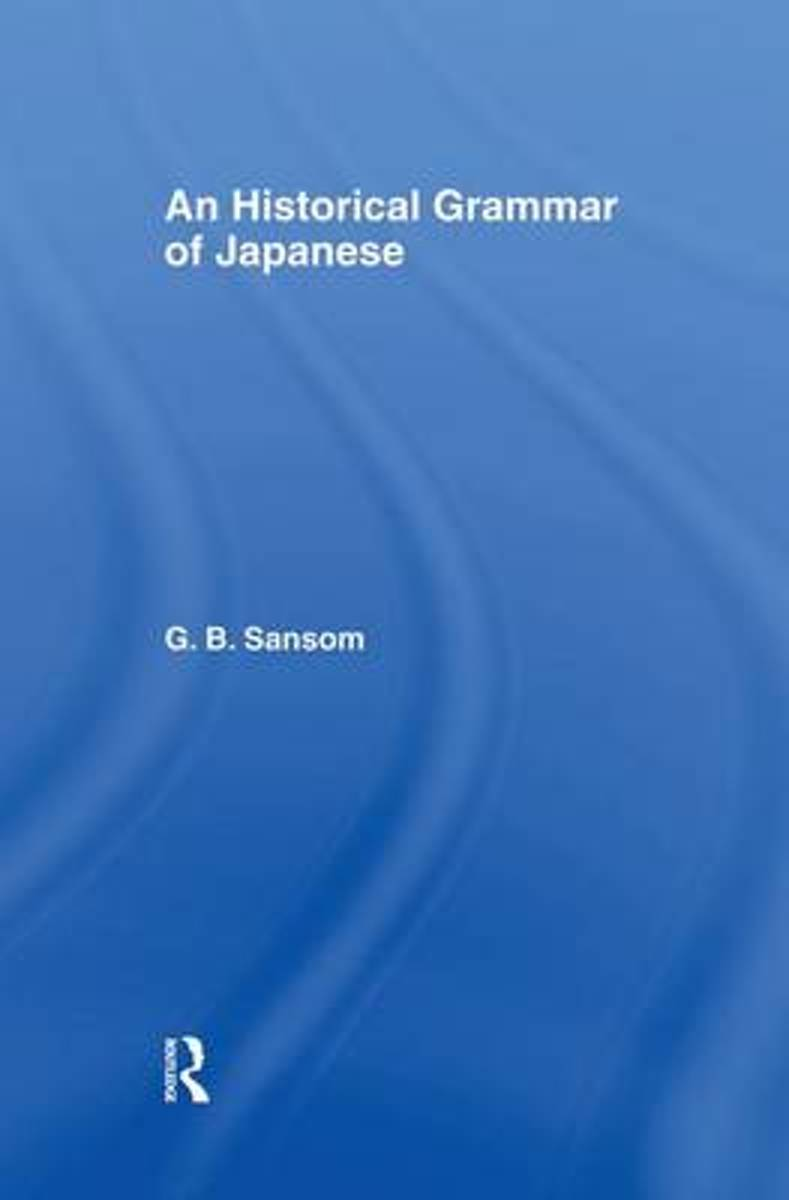 Historical Grammar of Japanese