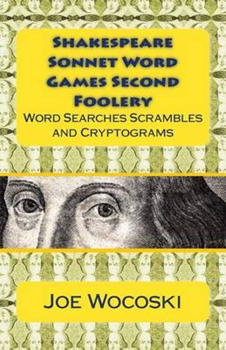 Shakespeare Sonnet Word Games Second Foolery