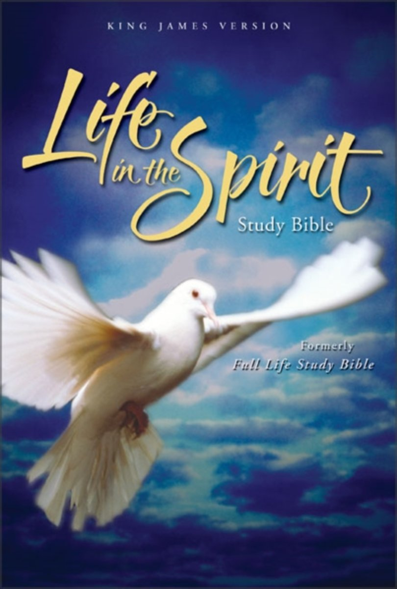 KJV, Life in the Spirit Study Bible, Bonded Leather, Burgundy, Indexed, Red Letter Edition